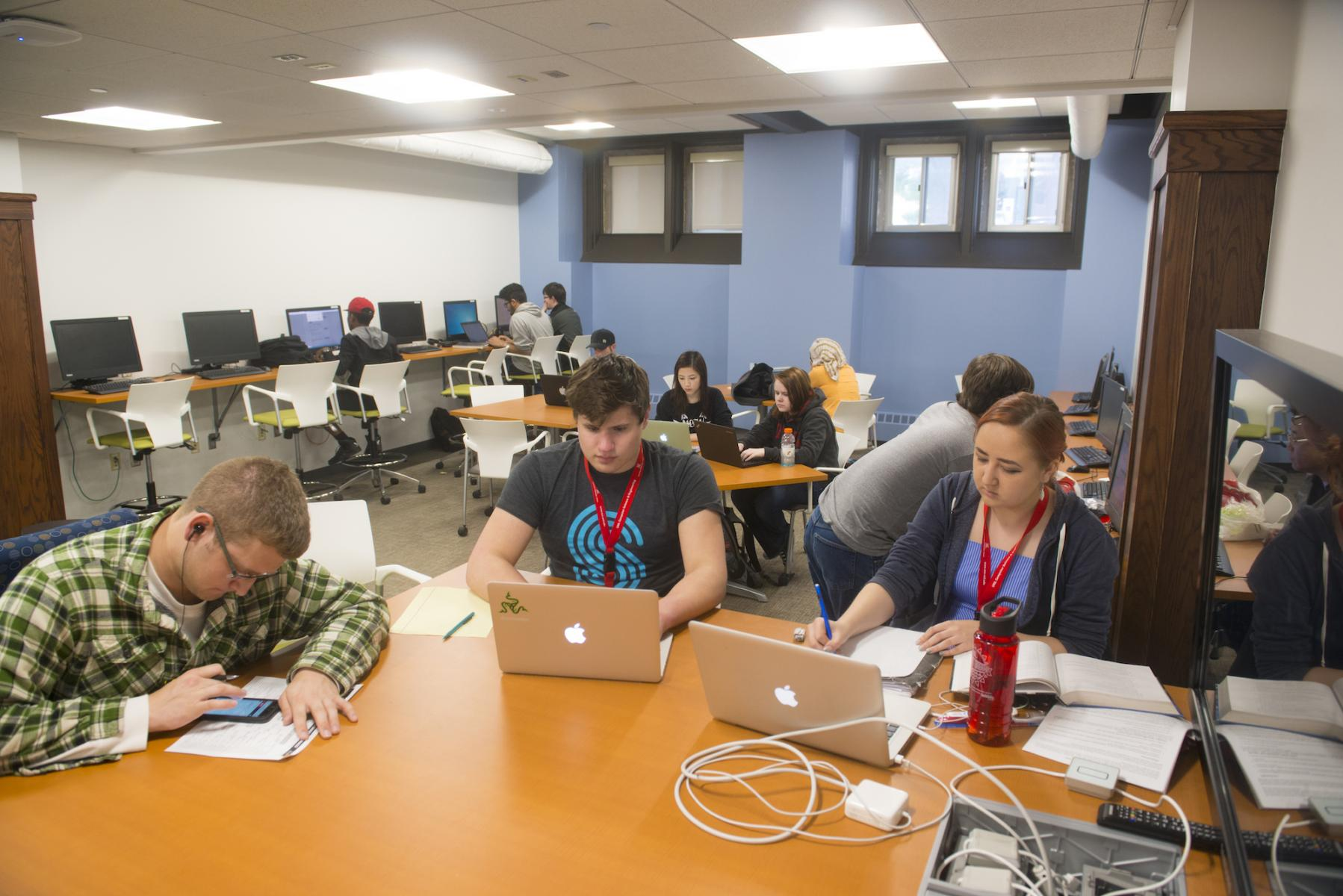 Students studying in the Student Resource Center