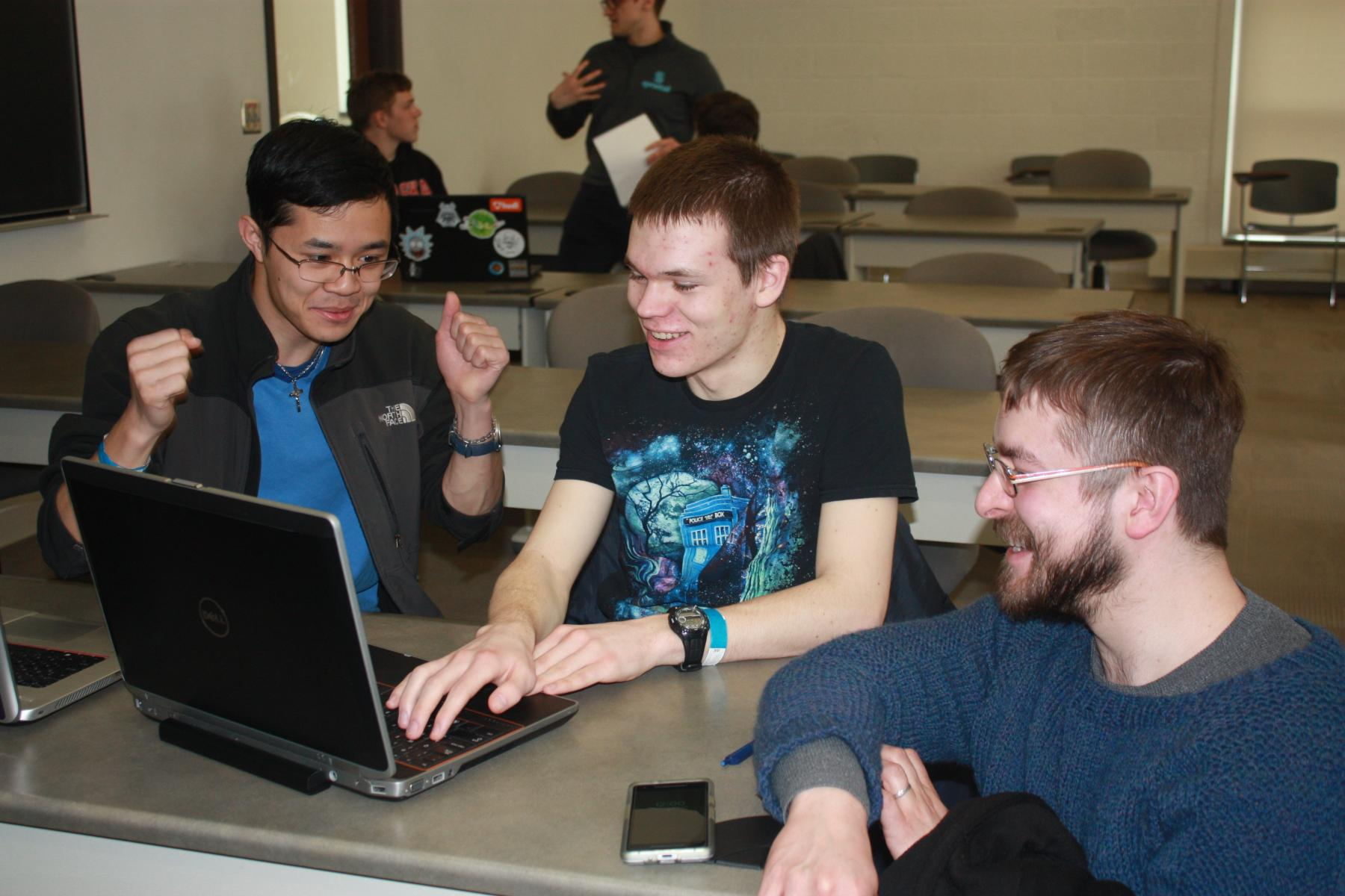 Students at a Computer Science and Engineering camp.