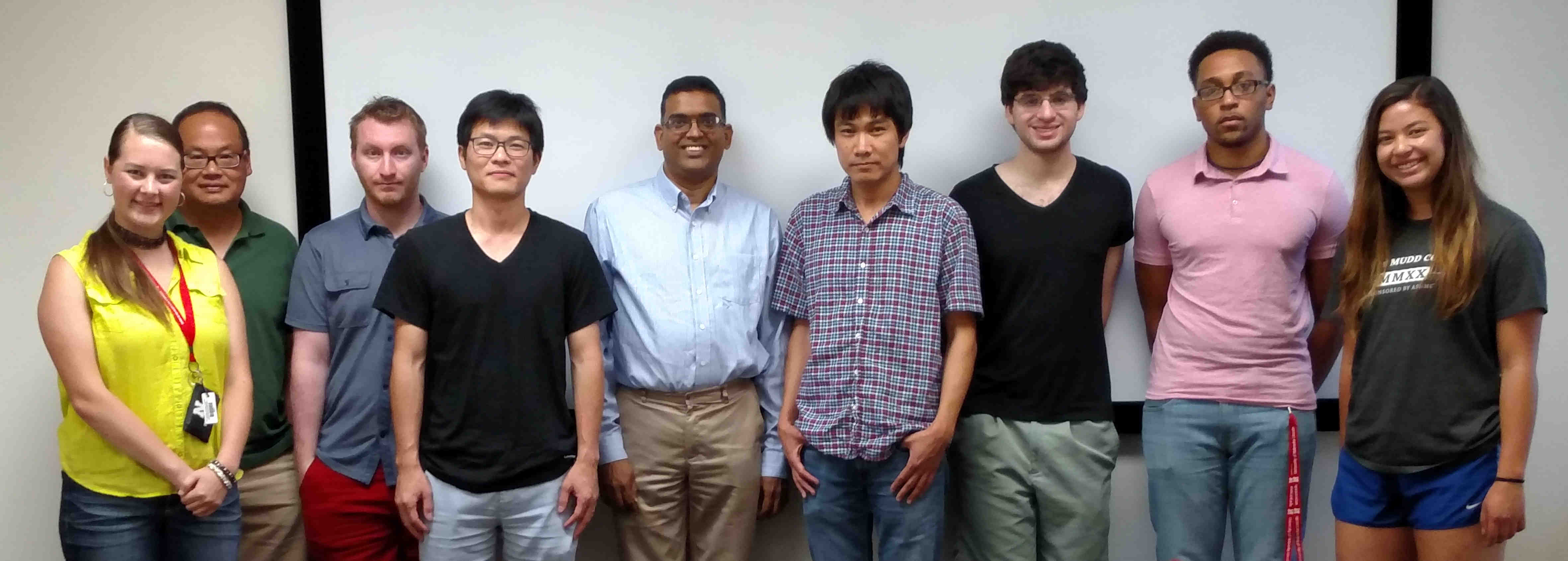 The Summer Research Program students with their faculty advisors.