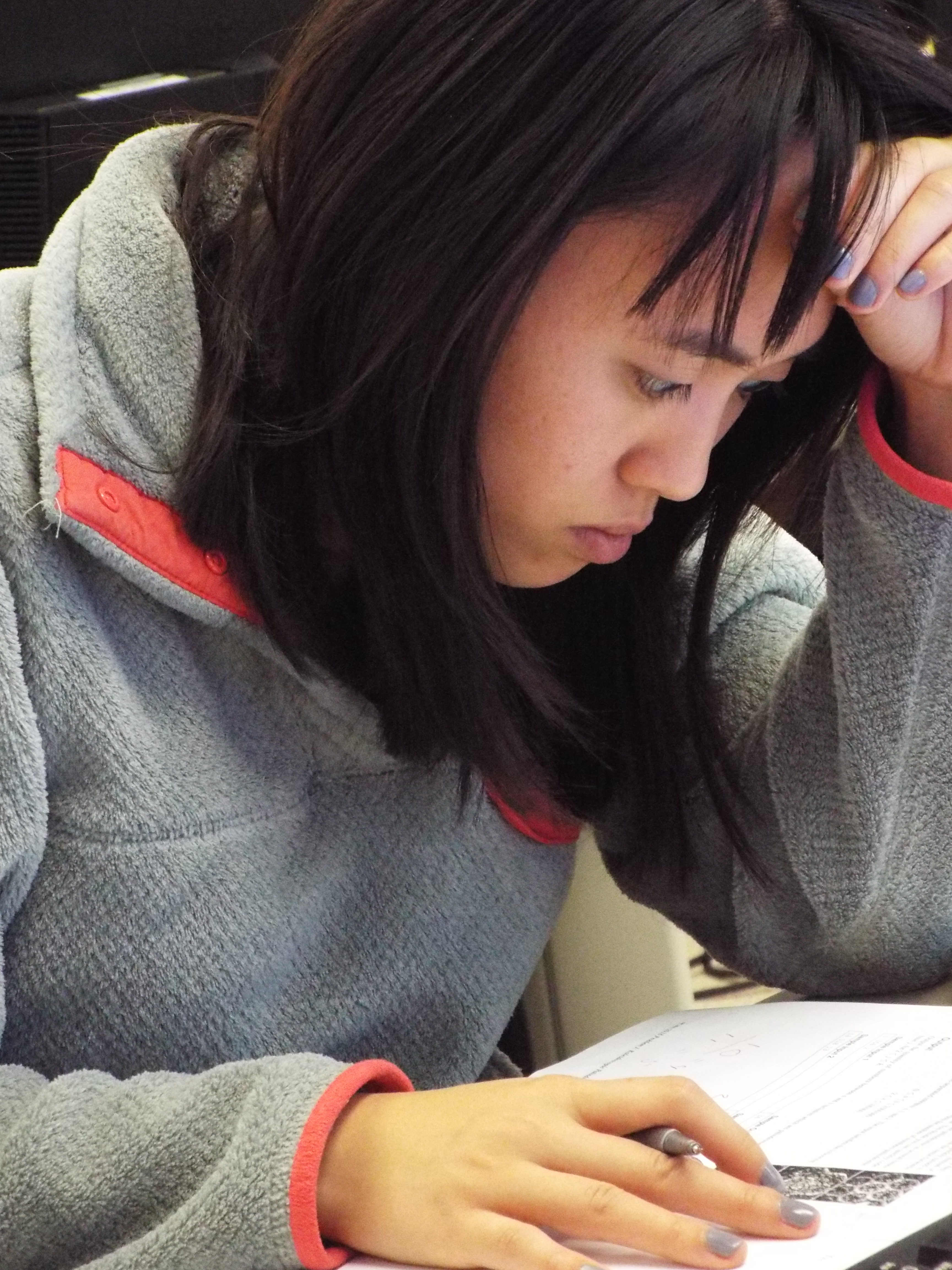 CSE student Annie Hua competes with her team at the regional programming contest on Nov. 3.