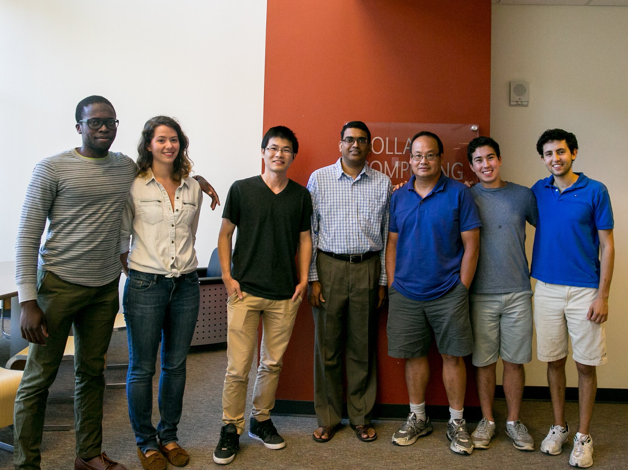 CSE faculty members and visiting Summer Research students.