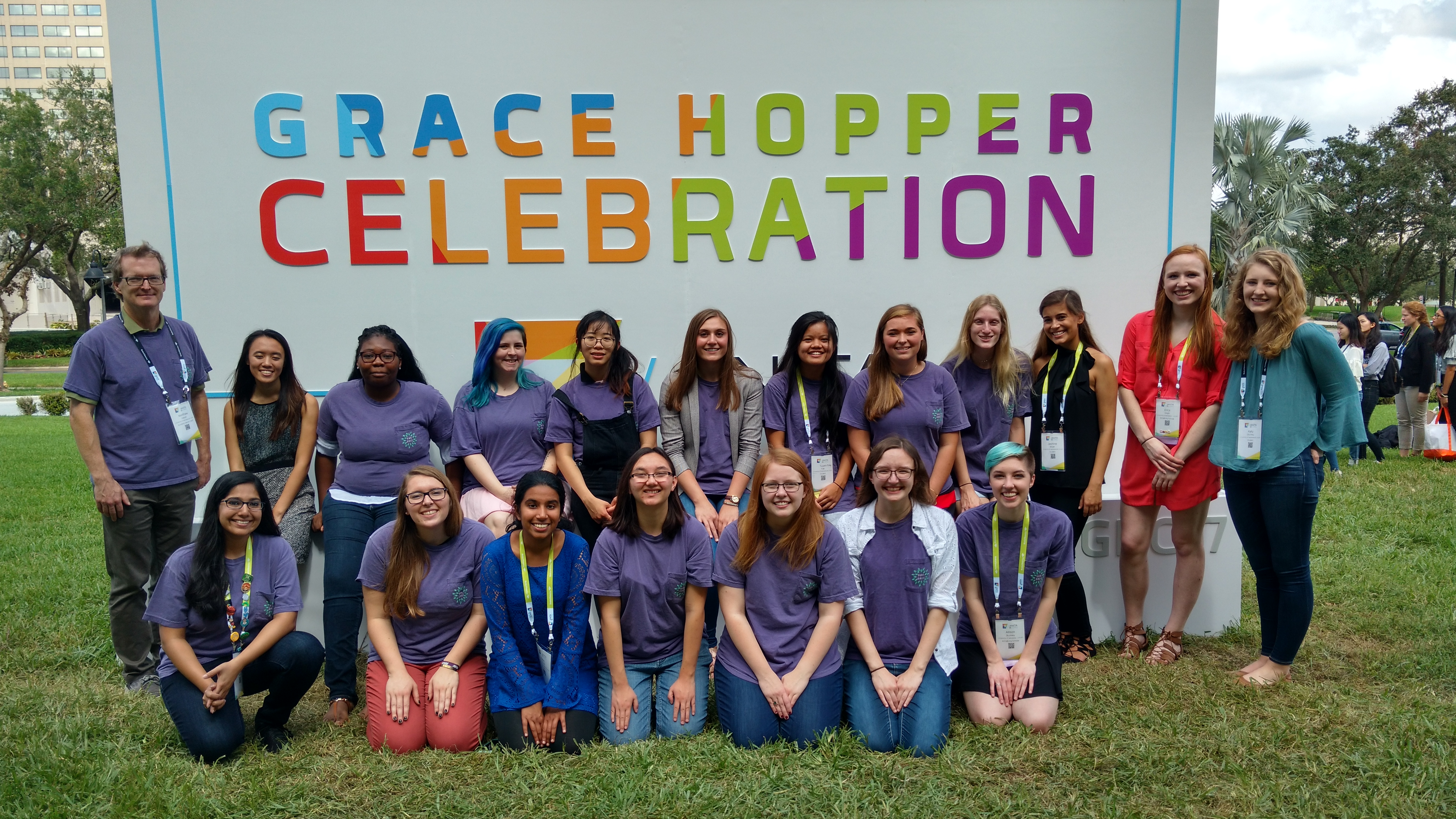 CSE students at the 2017 Grace Hopper Celebration of Women in Computing.