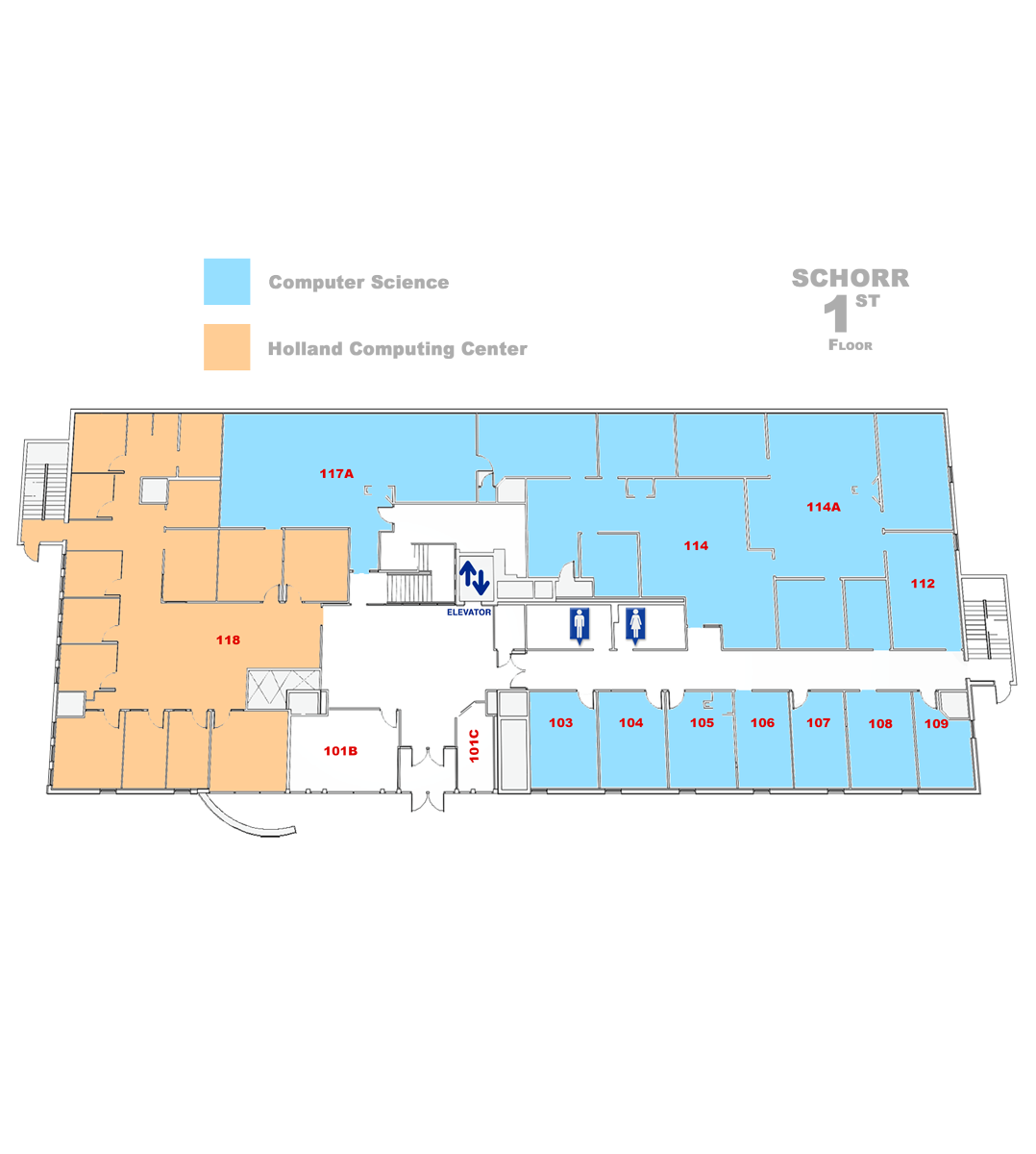 map of Schorr First floor
